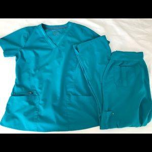 Purple Label Scrub Set. Top and pant size medium.